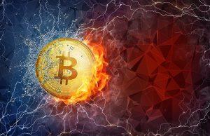 Bitcoin flying